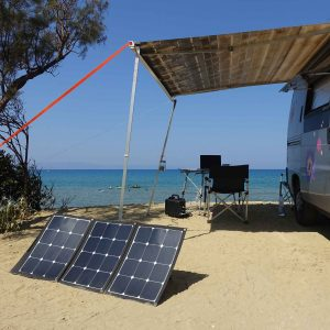 Autark campen mit faltbarem Solarmodul