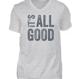 It's all good - V-Neck Herren Shirt_HEATHER GREY