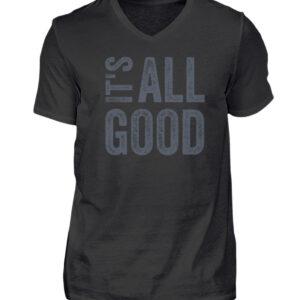 It's all good - V-Neck Herren Shirt_BLACK