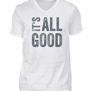 It's all good - V-Neck Herren Shirt_WHITE