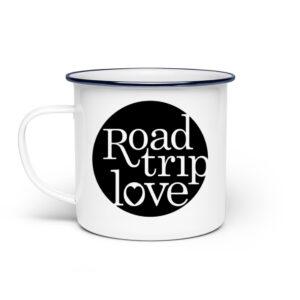 RoadTripLove - Tasse mit Nachtdunkel - Emaille Tasse-3