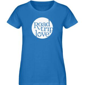 RoadtripLove Damen Organic Shirt_ROYAL BLUE