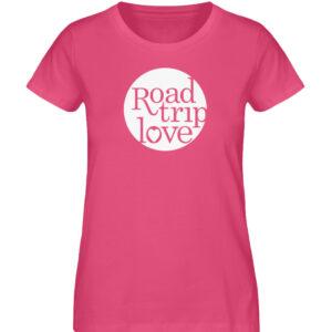 RoadtripLove Damen Organic Shirt_PINK PUNCH