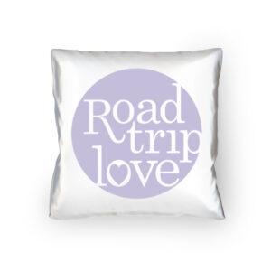 RoadtripLove Kissen mit Fliederlila