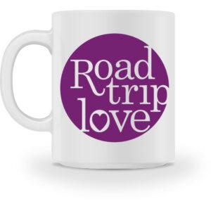 RoadTripLove - Tasse mit Fuchsiaviolett - Tasse-3