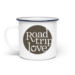 RoadTripLove - Tasse mit Schieferschwarz - Emaille Tasse-3
