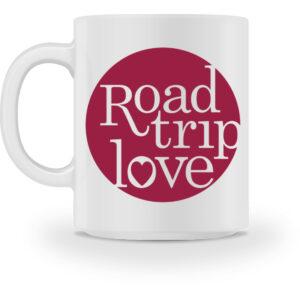 RoadTripLove - Tasse mit Himbeerrot - Tasse-3