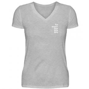 RoadTripLove - Shirt: No more blablabla - V-Neck Damenshirt-17