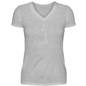 RoadTripLove - Shirt: Atme. Und lächle. - V-Neck Damenshirt-17