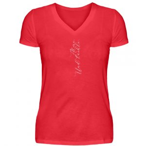 RoadTripLove - Shirt: Atme. Und lächle. - V-Neck Damenshirt-2561