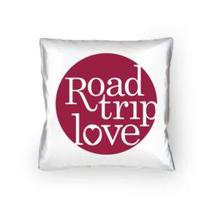 RoadtripLove Kissen mit Himbeerrot