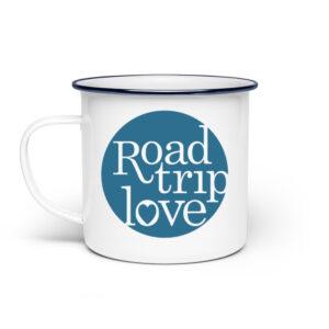 RoadTripLove - Tasse mit Meerblau - Emaille Tasse-3