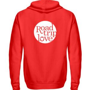 RoadtripLove Hoodie-Zipper RUBIN RED