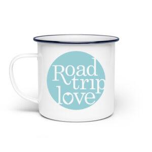 RoadTripLove - Tasse mit Himmeltürkis - Emaille Tasse-3