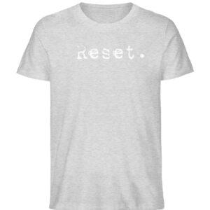 Reset - Herren Organic Shirt_HEATHER GREY