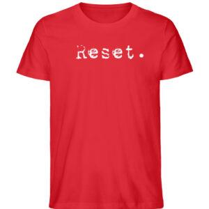 Reset - Herren Organic Shirt_RED
