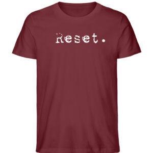 Reset - Herren Organic Shirt_BURGUNDY