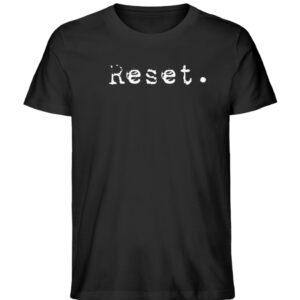 Reset - Herren Organic Shirt_BLACK