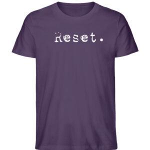 Reset - Herren Organic Shirt_PLUM
