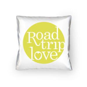 RoadtripLove Kissen mit Limonengelb