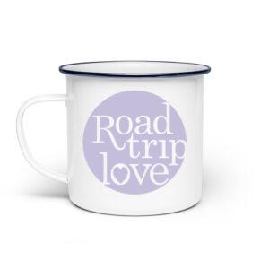 RoadTripLove - Tasse mit Fliederlila - Emaille Tasse-3