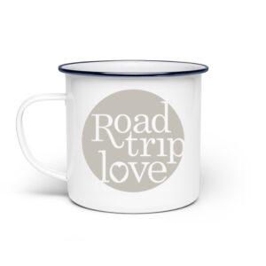 RoadTripLove - Tasse mit Kieselgrau - Emaille Tasse-3