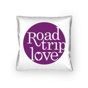 RoadtripLove Kissen mit Fuchsiaviolett