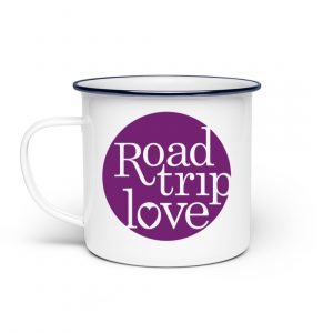 RoadTripLove - Tasse mit Fuchsiaviolett - Emaille Tasse-3