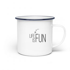 RoadtripLove - Life is Fun - Emaille Tasse-3