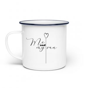 RoadtripLove - Me-and-my-van - Emaille Tasse-3