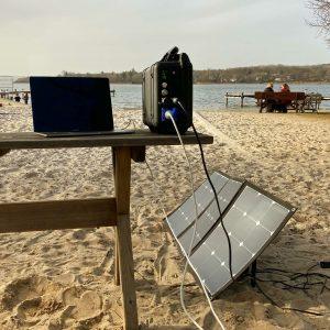 Mobil arbeiten und autark campen mit Solarstrom