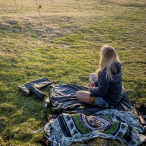 Große, beheizbare Decke für Camping und Picknick