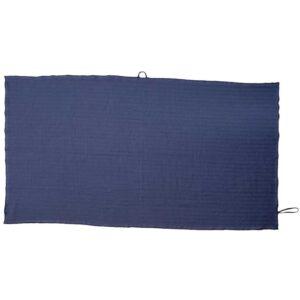 Schnell trocknendes blaues Reisehandtuch zum Duschen