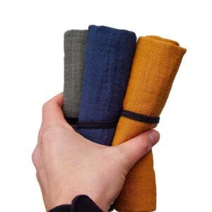 Schnelltrocknendes Reisehandtuch in drei Farben