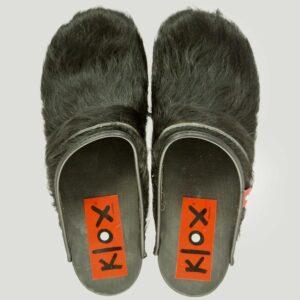 Klox_ coole Klogs mit schwarzem Fell
