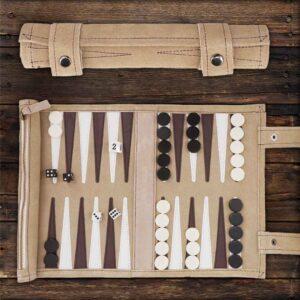 Backgammon für Camping und Reise